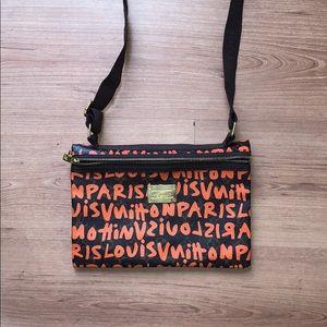 Handbags - Orange Graffiti Purse
